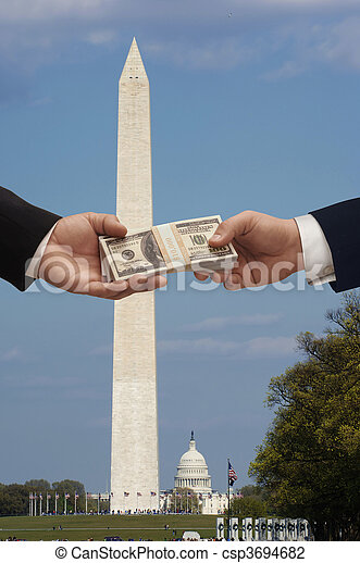 Dinero y política - csp3694682