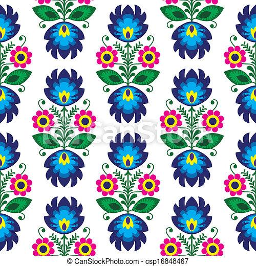 Esmalte floral sin costura - csp16848467