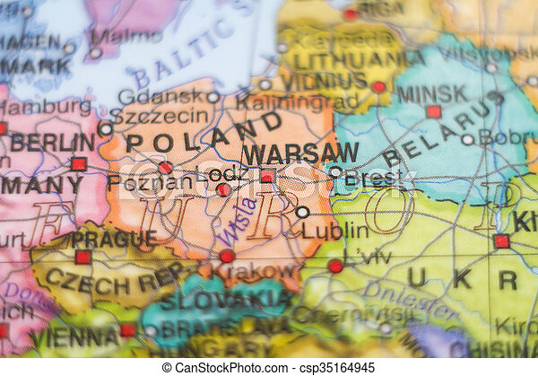 Capital Of Poland Map.Poland Country Map Photo Of A Map Of Poland And The Capital Warsaw