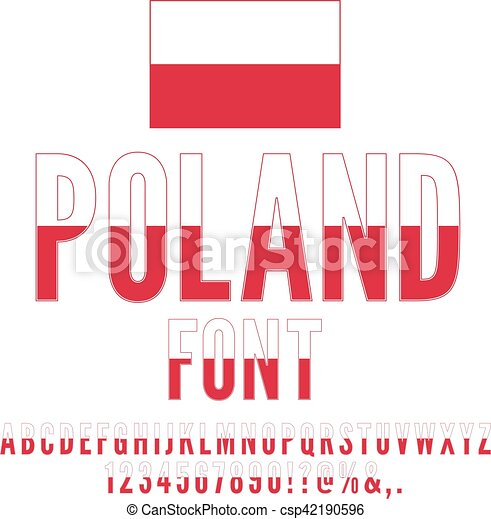 poland flag font poland national flag stylized font alphabet and