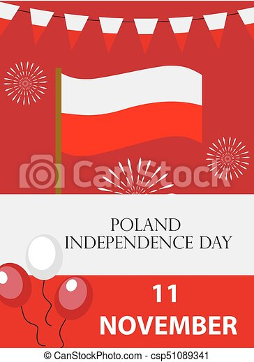 Poland Independence Day Templates For Your Design Brochure Flyer Greeting Card Invitation Poster Isolated On White Background Vector