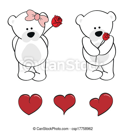Polar Bear Baby Cute Cartoon Set In Vector Format