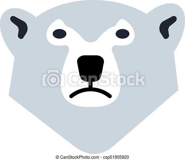 Polar bear logo. Stylized graphic polar bear logo templates ...