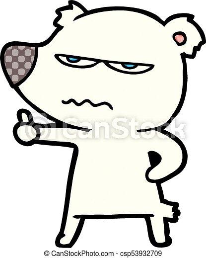 Dibujos de osos polares enojados dando pulgares arriba - csp53932709