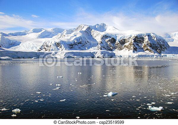 Polar landscape in Antarctica - csp23519599