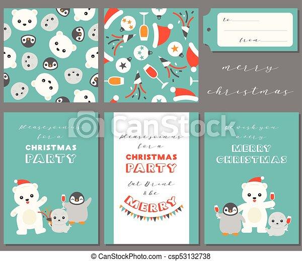 Amigos Antárticos Para La Navidad Tarjetas De Felicitación