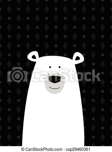 Polare bianco cartone animato orso carino orso polare