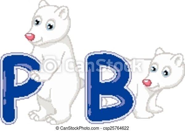 Polare cartone animato orso polare vettore illustrazione