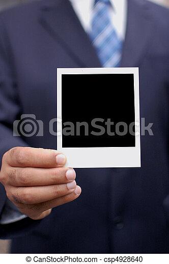 polaroid, 手 - csp4928640
