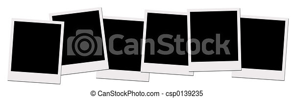Polaroid Films (with clipping path) - csp0139235