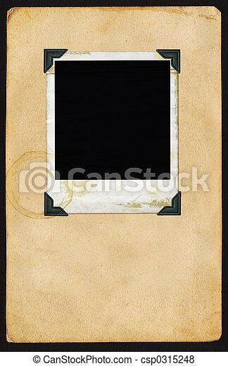 Polaroid on Page - csp0315248