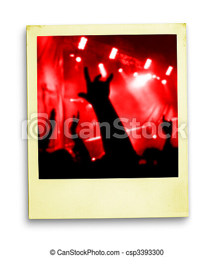 Polaroid Photo: Crowd Of Fans - csp3393300
