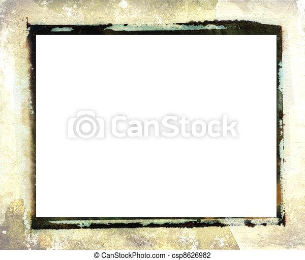 Polaroid transfer photo border - csp8626982