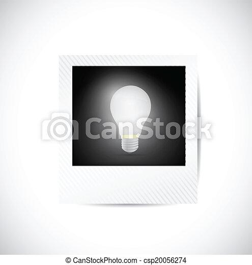polaroidkamera, lök, lätt - csp20056274