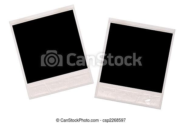 Polaroids frames. Polaroid frames isolated on white.