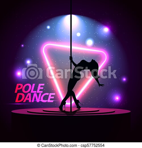 Pole Dance  Party Poster Template  Night Dance Party flyer