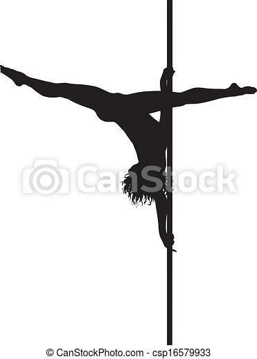 Pole dancer - csp16579933
