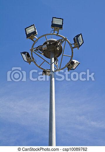 El poste de luz. - csp10089762