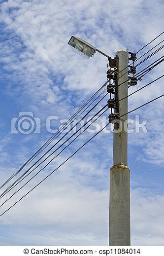 El poste de luz. - csp11084014