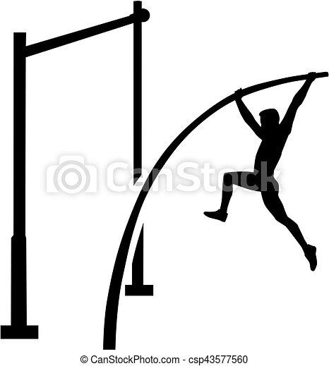 Pole vault athlete - csp43577560