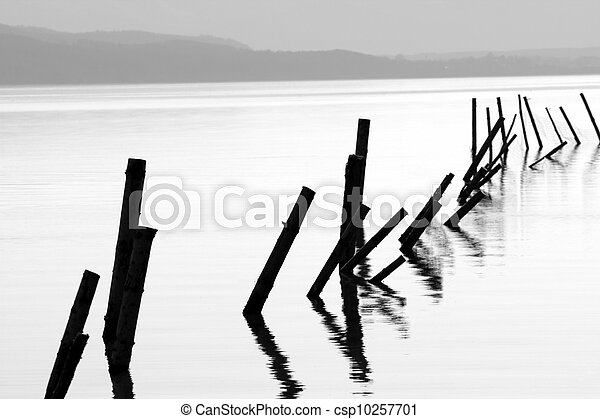 Poles in a lake - csp10257701