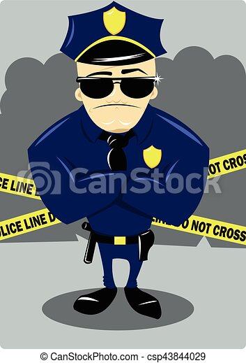 Policía y escena del crimen - csp43844029