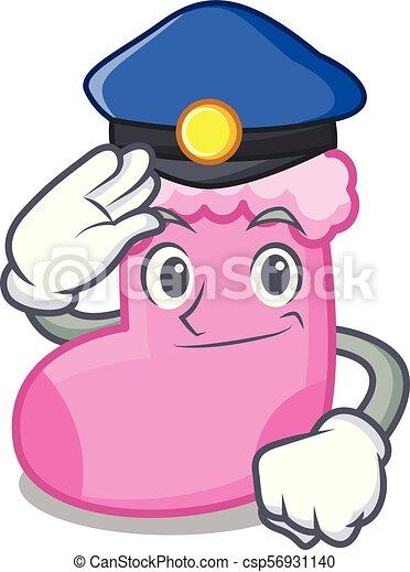 Estilo de dibujos animados de los calcetines policiales - csp56931140