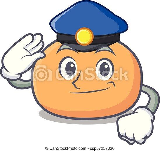 Estilo de dibujos animados de carácter policial - csp57257036