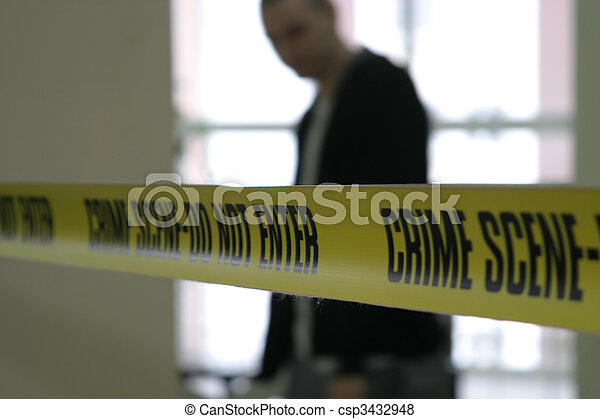 Cine policial de escena del crimen - csp3432948