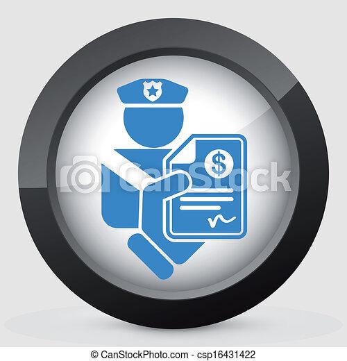Policía buen icono - csp16431422