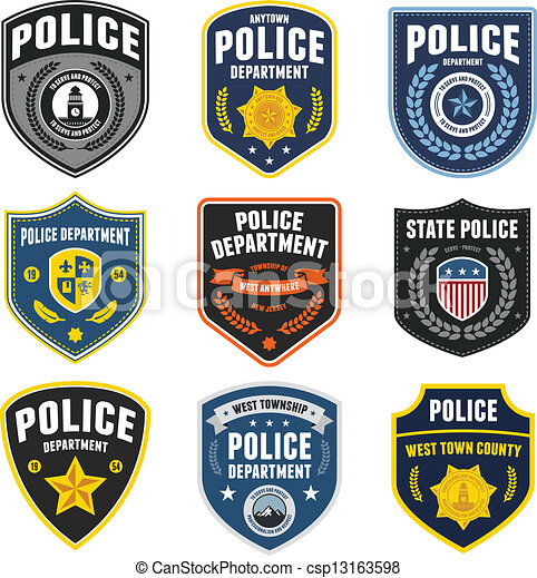 Parches policiales - csp13163598