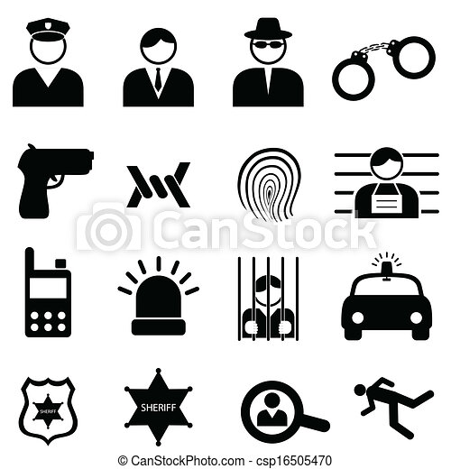 Police and crime icons - csp16505470