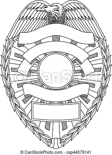 Police Badge Blank Is An Illustration Of A Police Or Law Enforcement