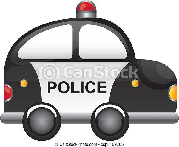 police car - csp8109765