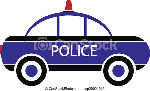 Police Car Icon On White Background Vector Illustration Vector