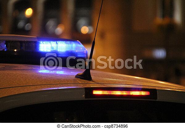 Police Car Lights - csp8734896
