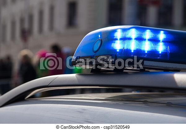 Police car on the street - csp31520549