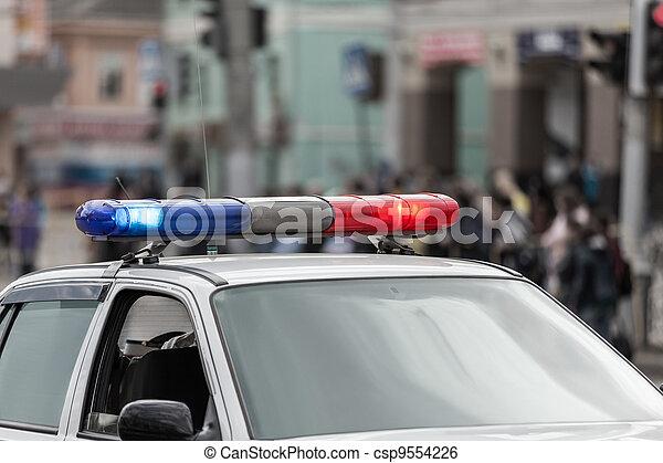 Police car - csp9554226