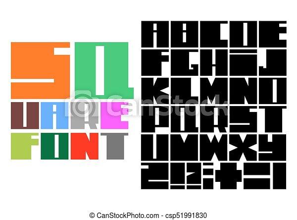 police, carrée, mosaïque - csp51991830