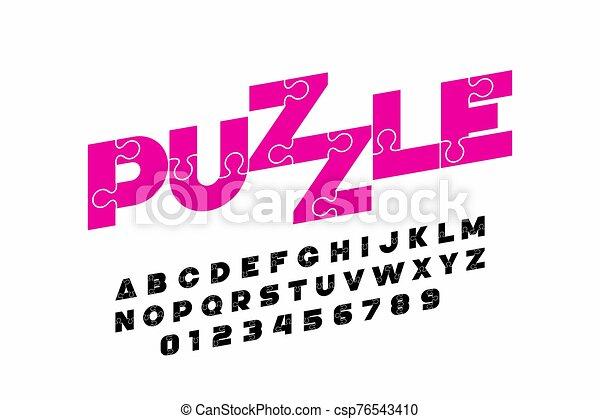 police, conception, puzzle - csp76543410