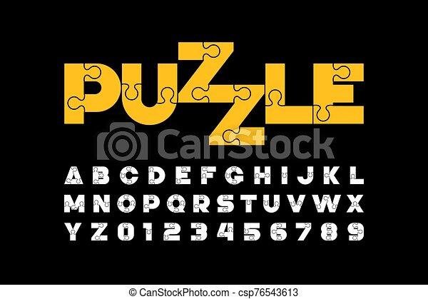 police, conception, puzzle - csp76543613