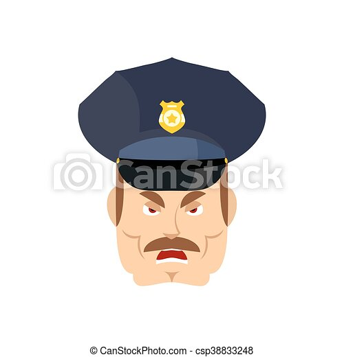 police, fâché, cop., policeman., wrathful, officier, agressif - csp38833248