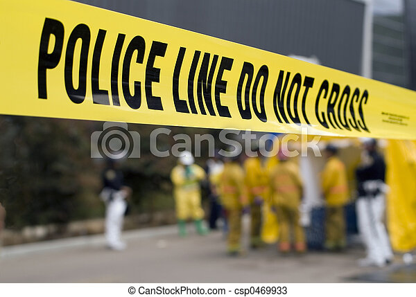 Police Line-HazMat - csp0469933