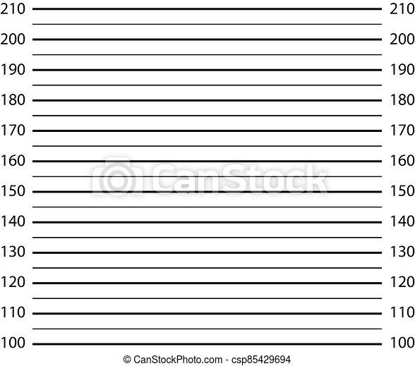 police lineup sign. mugshot background. police mag board. Empty lineup investigation shot. - csp85429694