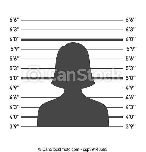 Police Lineup with Woman Silhouette. Vector - csp39140593