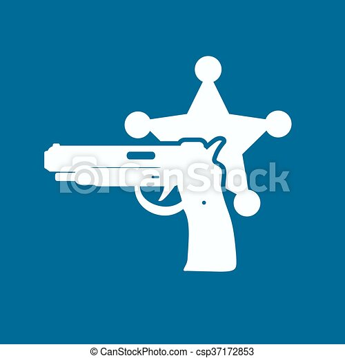 police, moderne, isolé, illustration, vecteur, icon. - csp37172853