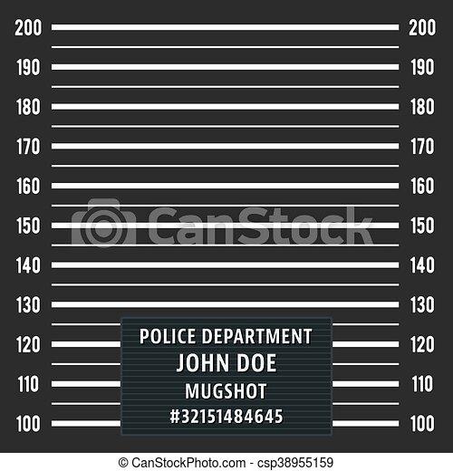 Police mugshot background - csp38955159