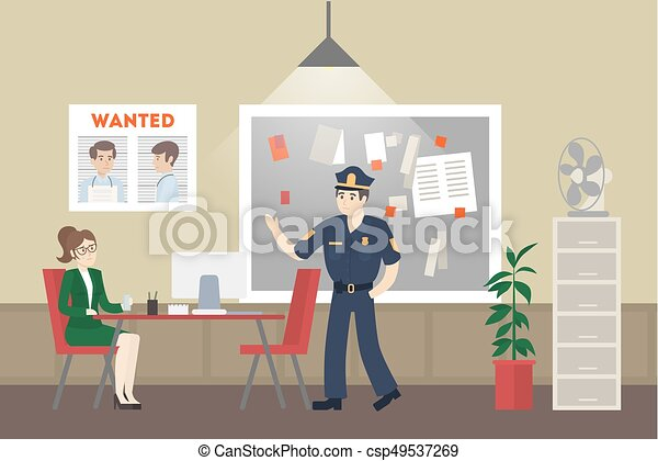 Police office room. - csp49537269