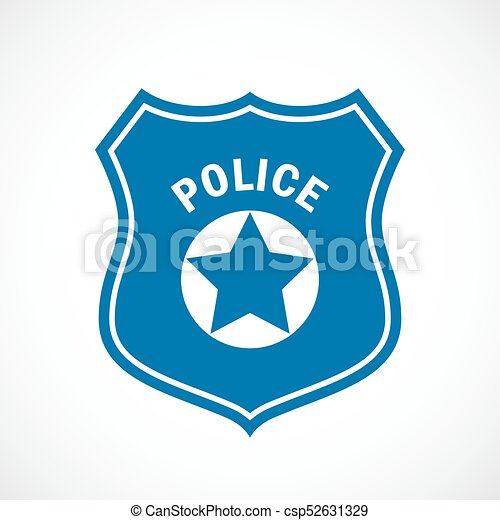 Police officer badge icon - csp52631329