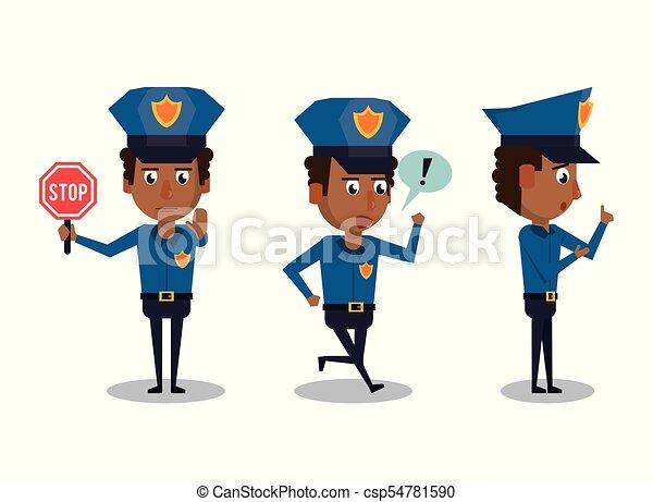 police officer icons cartoon icon vector illustration graphic rh canstockphoto com police vector art police victoria car for farm sim 15